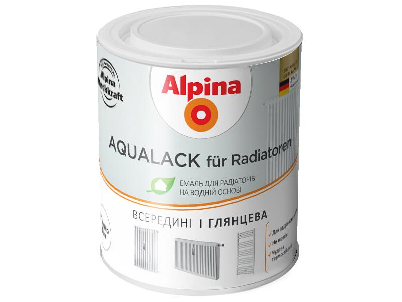 Эмаль для радиаторов отопления ALPINA Aqualack fur Radiator(2,5л)
