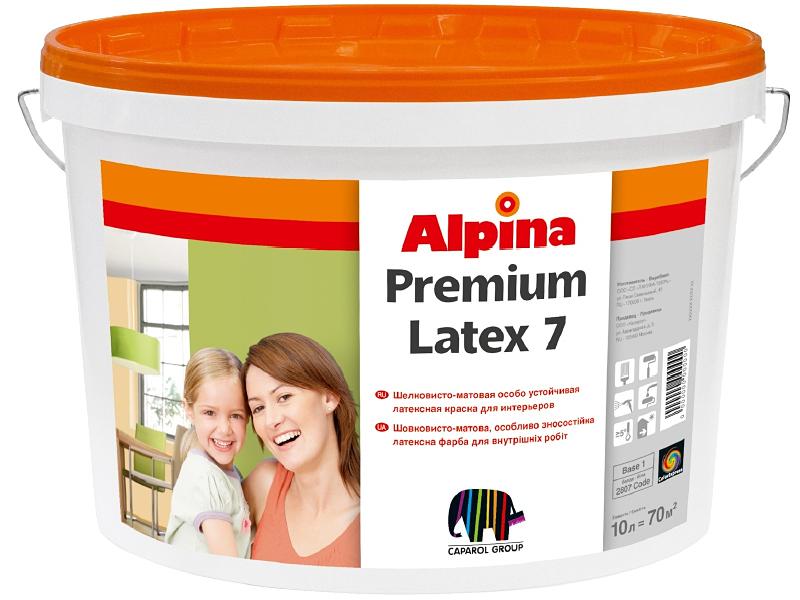 Шелковисто-матовая латексная краска ALPINA Premiumlatex 7 E.L.F. B1(10л)