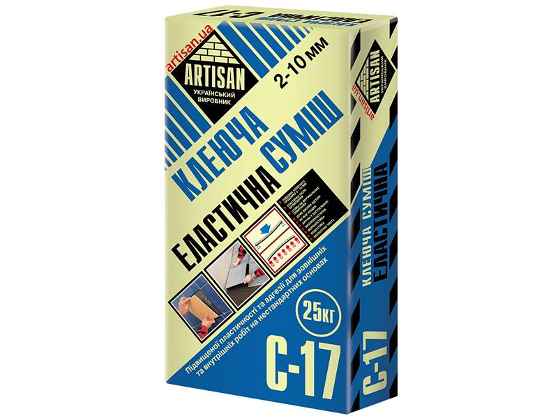 Клеящая смесь эластичная АРТИСАН C-17(25кг)