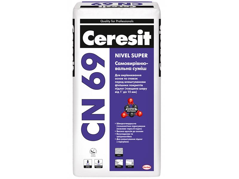 Самовыравнивающаяся смесь для пола CERESIT CN 69 25кг