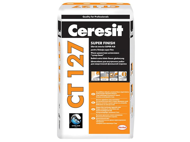 Шпаклевка полимерная мелкодисперсная CERESIT CT 127 25кг
