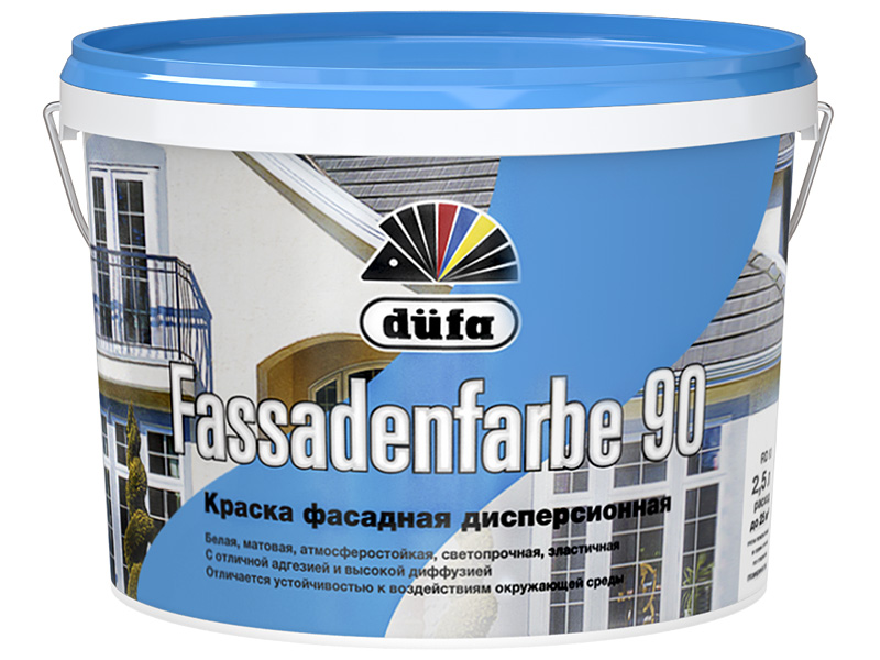 Краска фасадная DUFA Fassadenfarbe RF90(10л)