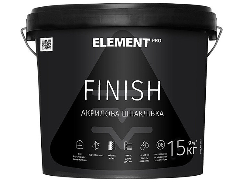 Готовая шпаклевка ELEMENT Pro Finish(8кг)