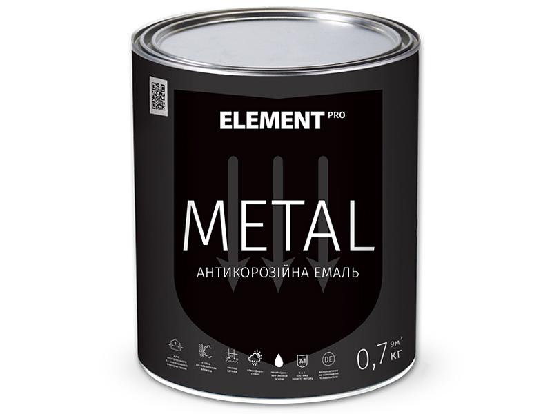 Алкидная эмаль ELEMENT Pro Metal(0,7кг)
