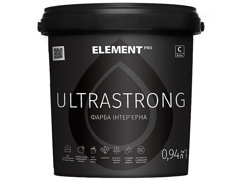 Сверхизносостойкая латексная краска ELEMENT Pro Ultrastrong База С(2,35л)