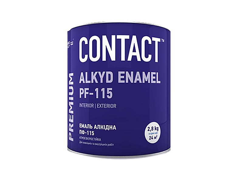 Эмаль алкидная DNIPRO CONTACT ПФ-115(белая) 2,8кг