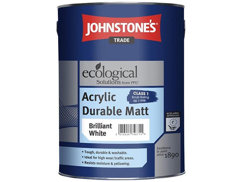 Матовая износостойкая краска JOHNSTONE'S Acrylic Durable Matt(5л)