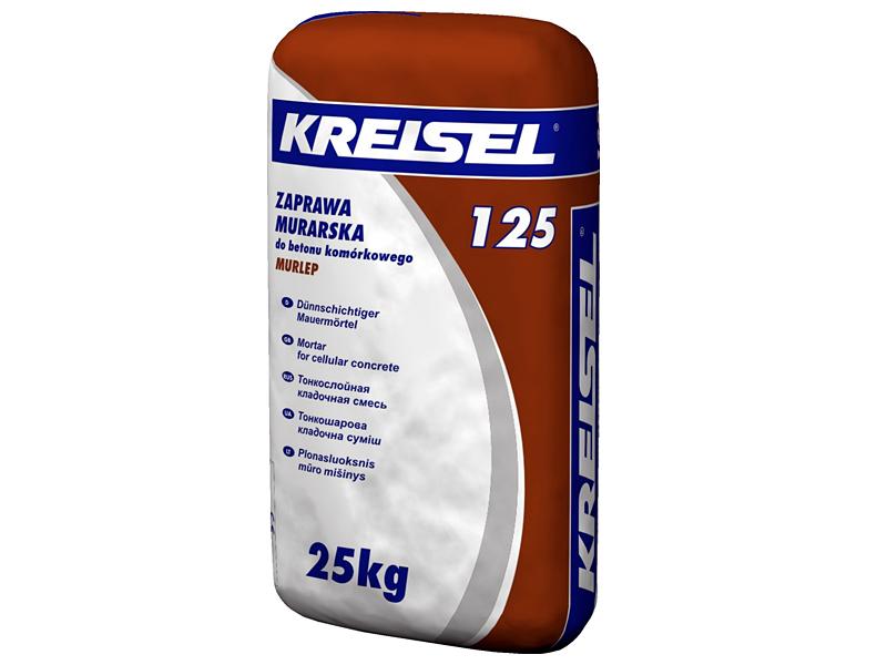 Кладочная смесь для ячеистого бетона KREISEL 125 Porenbeton-Kleber(25кг)