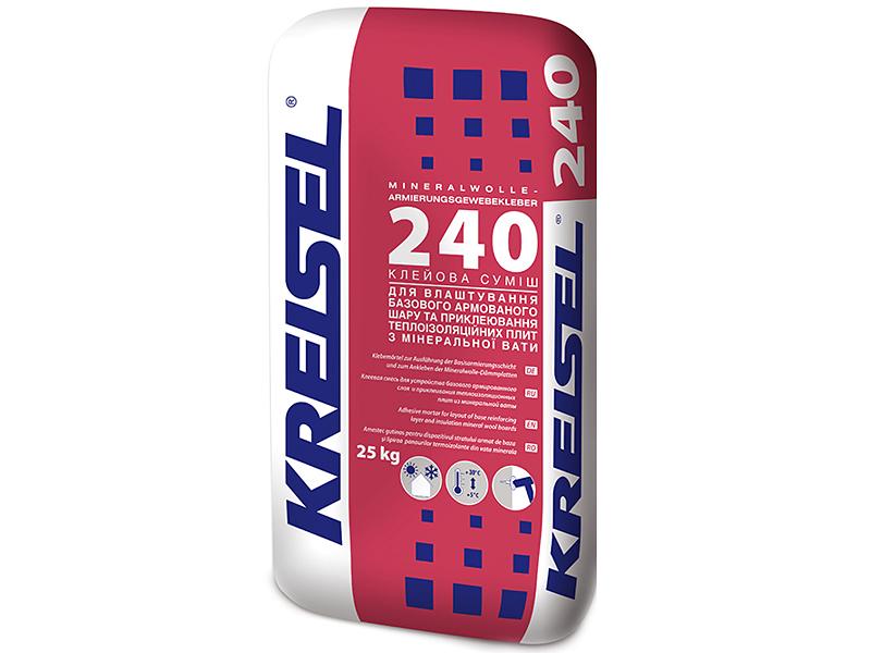 Клей для армирования минеральной ваты KREISEL 240 Styrlep W(25кг)