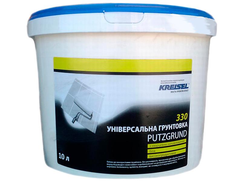 Грунтующая смесь с кварцевым наполнителем KREISEL 330 Putzgrund(10л)
