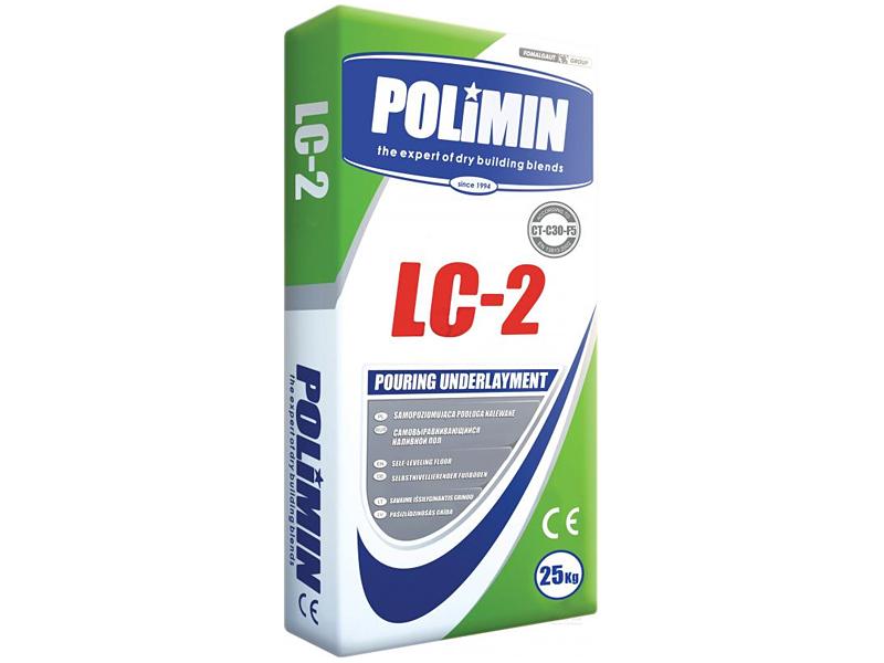 Смесь для пола подготовительная наливная ПОЛИМИН ЛЦ-2(25кг)