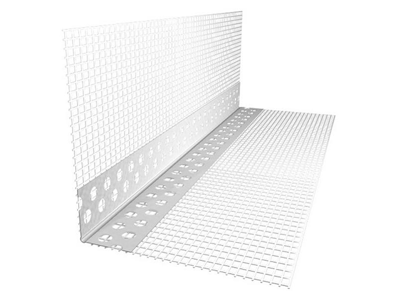 Профиль угловой алюминиевый со стеклосеткой (фасадный) 2,5м