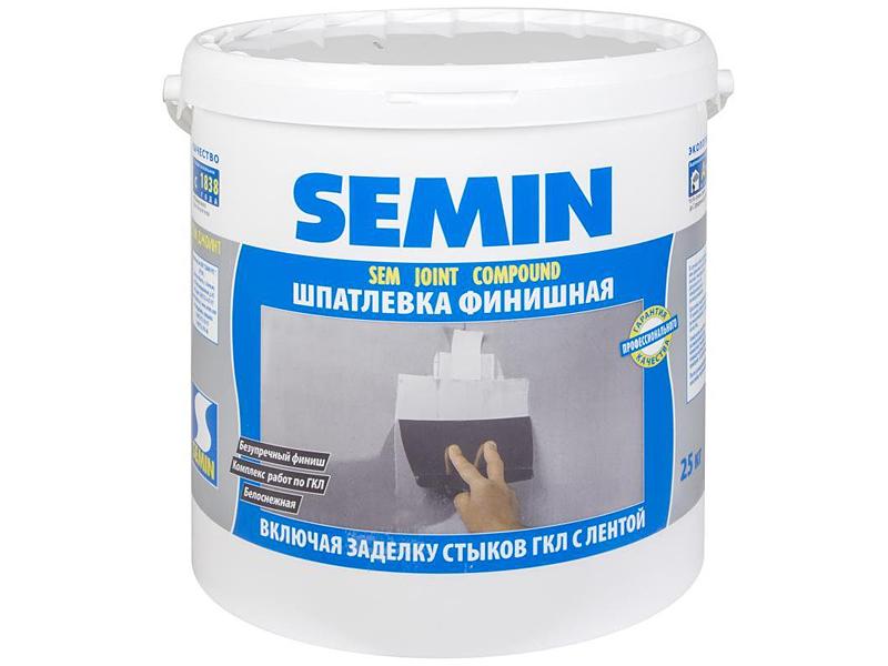 Шпаклевка готовая SEMIN Sem Joint Compound(25кг)