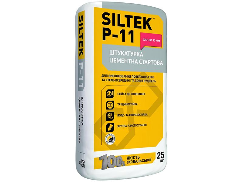 Штукатурка цементная стартовая для внутренних и наружных работ SILTEK P-11