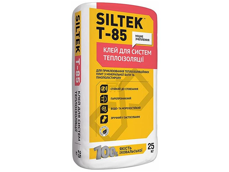 Клей для приклеивания минеральной ваты и пенопласта SILTEK T-85