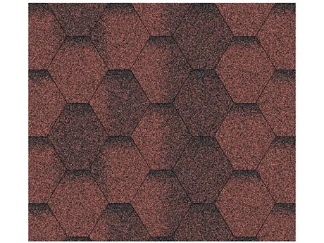 Битумная черепица АКВАИЗОЛ Мозаика красная(3м²)