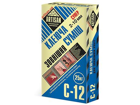 Клеящая смесь для наружных работ АРТИСАН C-12(25кг)