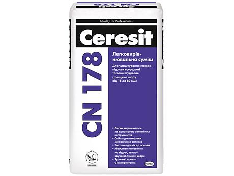 Легковыравниваемая смесь для пола CERESIT CN 178 25кг