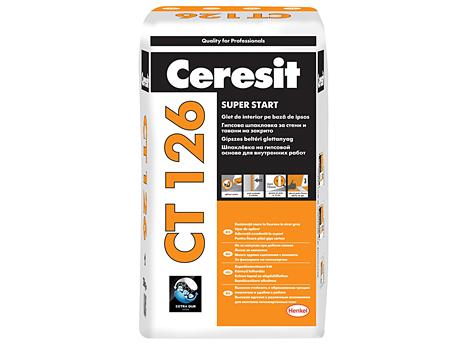 Шпаклевка гипсовая финишная CERESIT CT 126 25кг