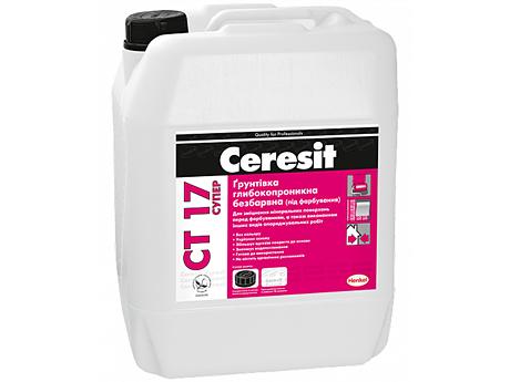 Грунтовка глубокопроникающая бесцветная CERESIT CT 17 супер 10л