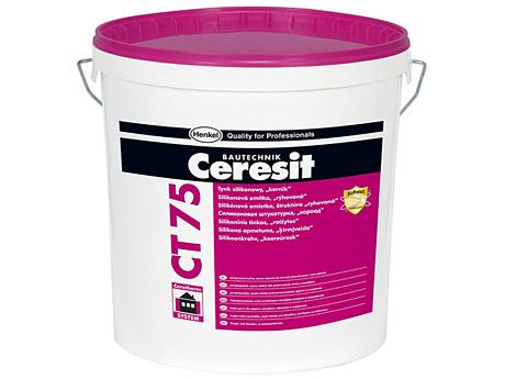 Штукатурка силиконовая декоративная короед CERESIT CT 75 3,0мм(база) 25кг
