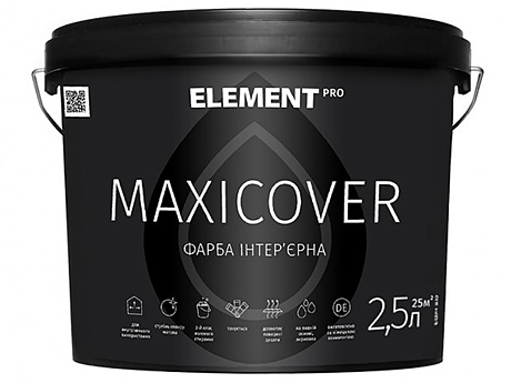 Абсолютно матовая латексная краска ELEMENT Pro Maxicover(2,5л)