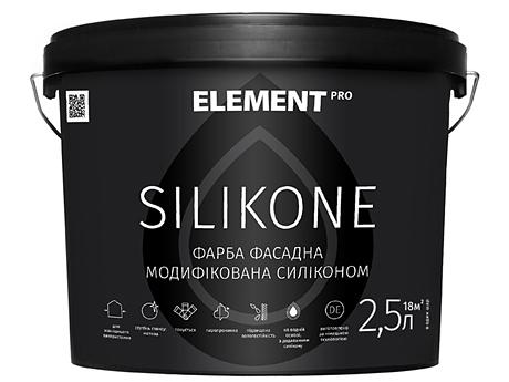 Фасадная краска ELEMENT Pro Silikone База А(2,5л)