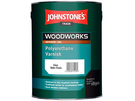 Лак на растворителе JOHNSTONE'S Polyurethane Varnish Gloss(2,5л)