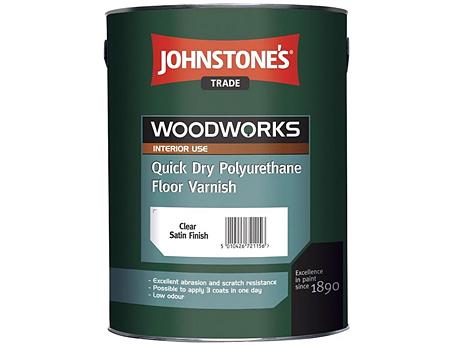 Лак для пола водорастворимый JOHNSTONE'S Quick Dry Floor Varnish Gloss(5л)