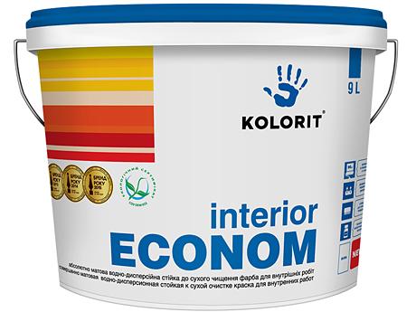 Водоэмульсионная краска KOLORIT Interior Econom(10л)