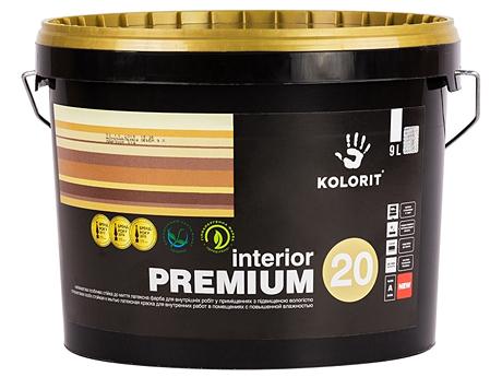 Полуматовая краска KOLORIT Premium 20(9л)