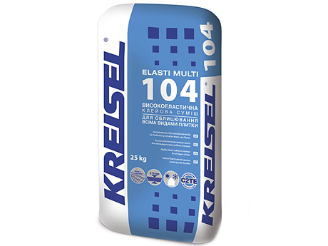 Клей для плитки эластичный KREISEL 104 Elasti-Multi(25кг)