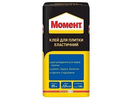 Клей для плитки эластичный МОМЕНТ Эласт 25кг