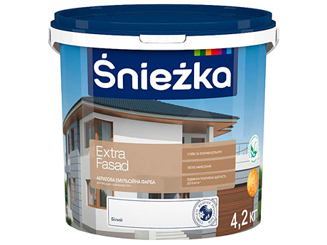 Краска водоэмульсионная матовая SNIEZKA Extra Fasad (15 л): купить с  доставкой по Киеву и Украине