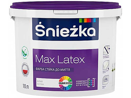 Краска латексная матовая SNIEZKA Max Latex(10л)