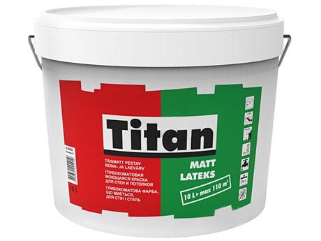 Глубокоматовая моющаяся акриловая краска для стен TITAN Mattlatex(10л)